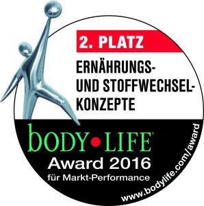 Platz 2 bei den Body LIFE Awards 2016!