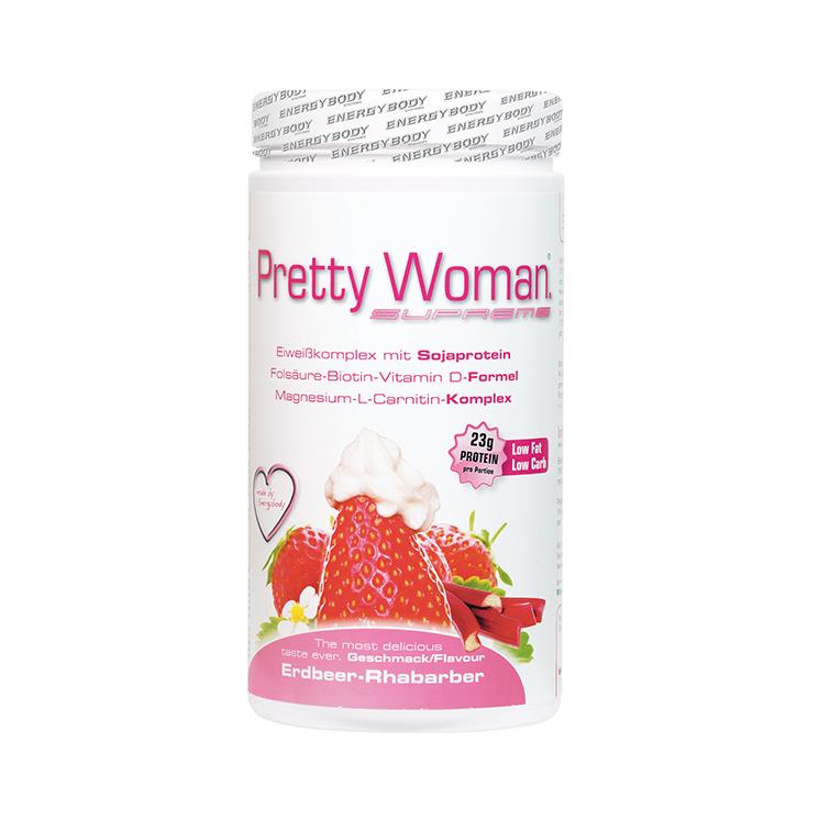 Pretty Woman Proteinshake Erdbeer-Rhabarber
