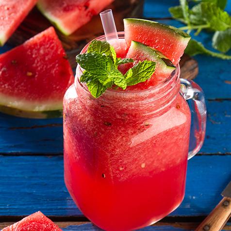Melone Erdbeer Smoothie